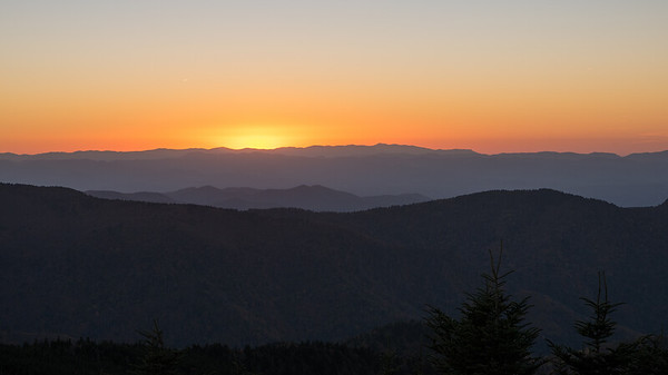 Sunset at Mount Mitchell, North Carolina, USA