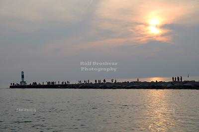 Holland Pier at dusk