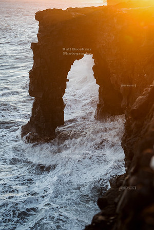 Holei Sea Arch at Sunset