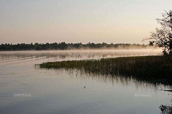 Sunrise over Lake Thompson, Oneida County, Wisconsin