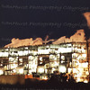 A refinery at night