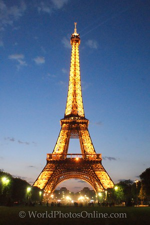 Paris - Eiffel Tower at twilight