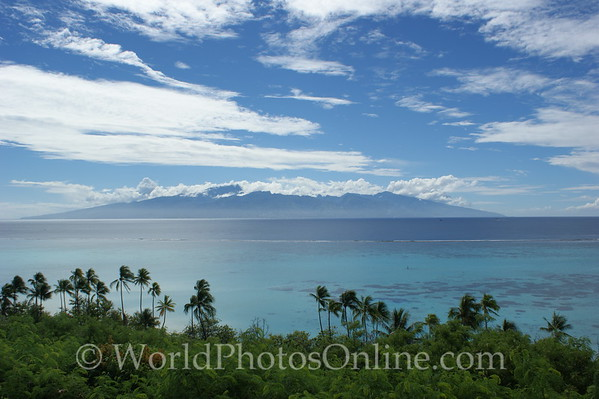 Moorea - View of Tahiti