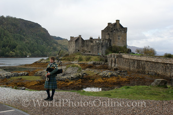 Loch Duich - Eilean Donan Castle with Piper