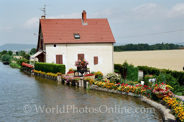 Burgundy - Lock Control House on the Saone canals