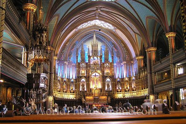 QC - Montreal - Notre Dame Basilica - Altar 1