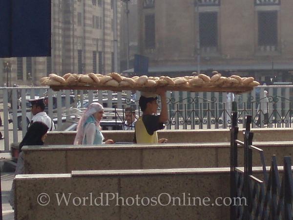 Islamic Cairo - Bread Man going into subway