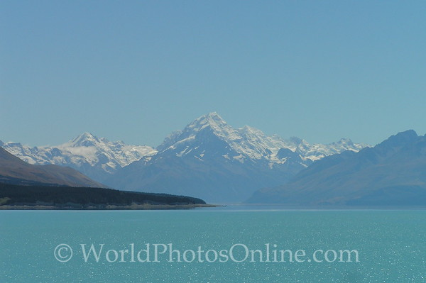 South Island - Mt Cook across Lake Pukaki