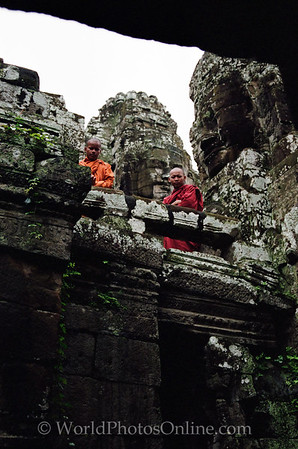 Siem Reap - Bayon - Buddhist Monks