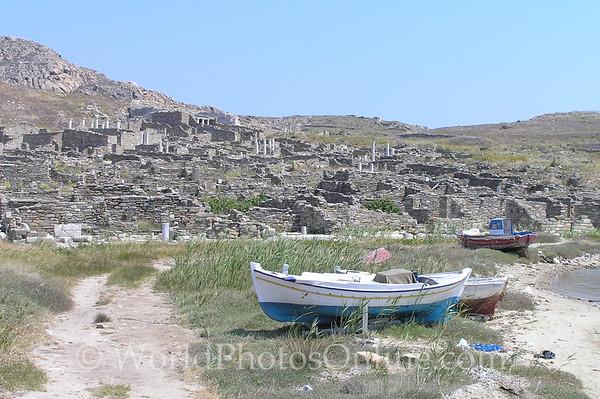 Delos - Boats and Ruins