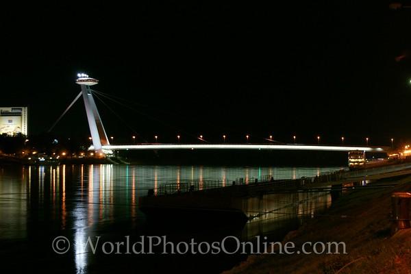 Bratislava - New Bridge at night