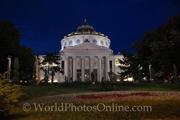 Bucharest - Romanian Athenaeum (Concert Hall) at night