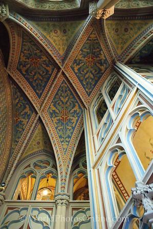 Budapest - Castle Hill - St Matthias Church - Ceiling 2