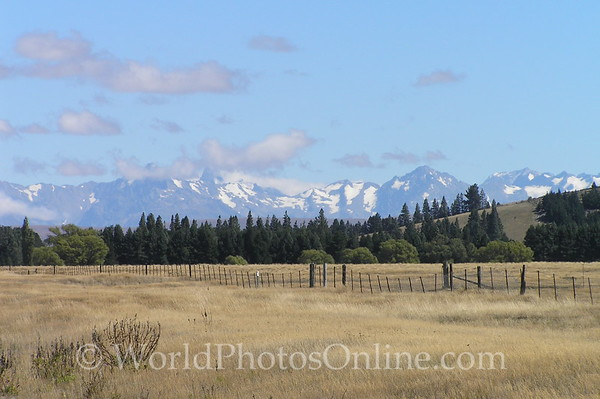 South Island - Southern Alps by Burkes Pass