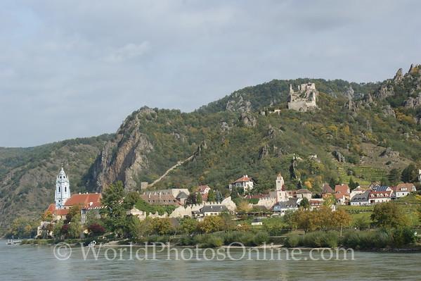 Durnstein from Danube
