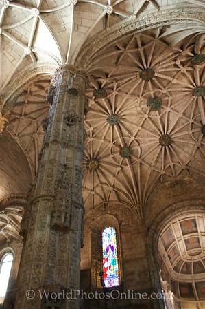 Lisbon - Monastery of Saint Jerome - Church Nave 3