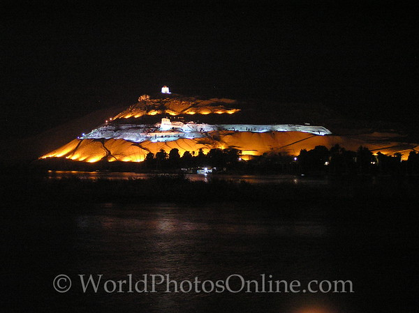 Aswan - Old Kingdom Noble Tombs at Night