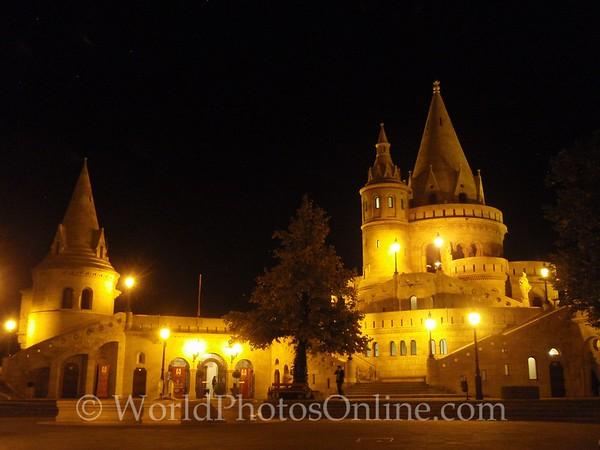 Budapest - Castle Hill - Fishermen's Bastion at night