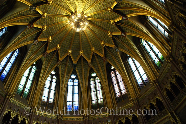 Budapest - Parliament Building - Central Hall Ceiling
