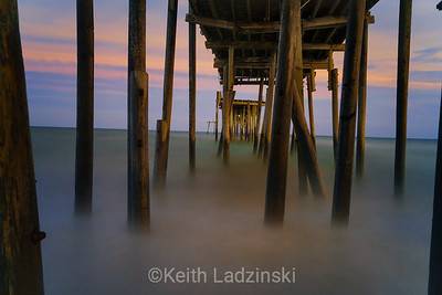 A heavily damaged pier in Frisco North Carolina, Cape Hatteras National Seashore