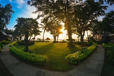 Sunrise in a Courtyard