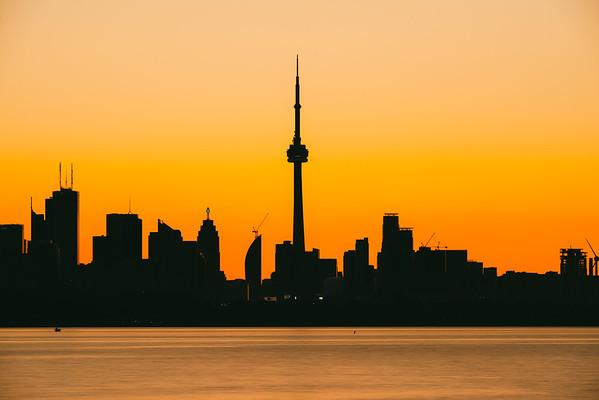 A Toronto Skyline Silhouette