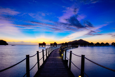 A Blue Sunset in Fiji