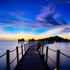 A Blue Sunset in Fiji