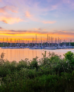 Sunset by the Marina