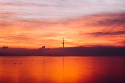 A Rollercoaster Sunrise