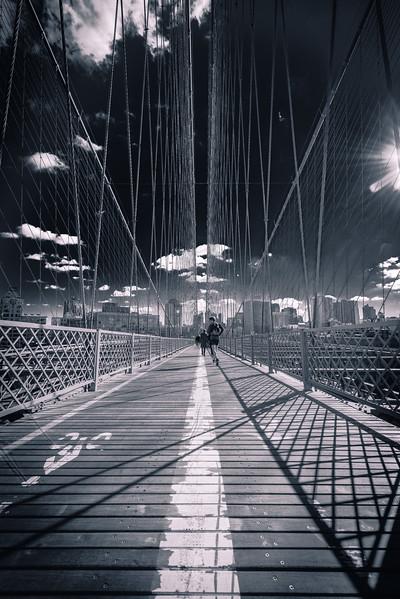 Running on the Brooklyn Bridge