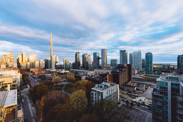 Toronto Skyline in the Sunset Glow