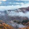 Fog in the Japanese Alps