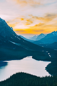 Peyto Lake Sunset