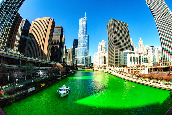 The Greening of the Chicago River, 2012 edition