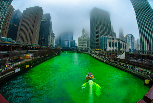 The Greening of the Chicago River, 2010 edition