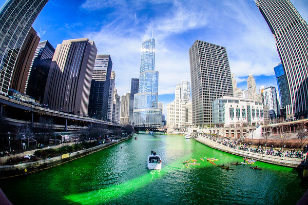 The Greening of the Chicago River, 2015 edition