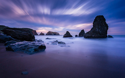 Rodeo Beach Long Exposure Tonight I met up with my buddy +Jameson Savage, to shoot at Rodeo Beach. I haven't been here since last January and my photography has come a long way since then. We were hoping for more of a sunset as the clouds early were screaming awesomeness but not too much color. The clouds made for some great Long Exposure shooting though. Here is one of many shots from tonight.  Canon 17-40mm f/4 L  ISO 400 f/9 181 Seconds