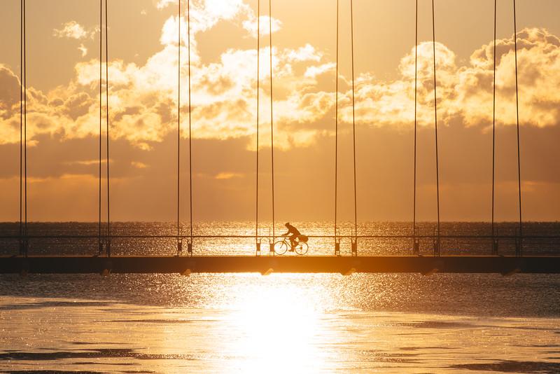 Biking on a Bridge