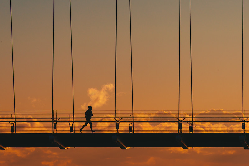 Morning Jog on a Bridge