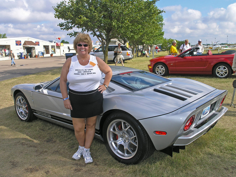 Nancy and Ford GT at Oskosh - 29 July 2005