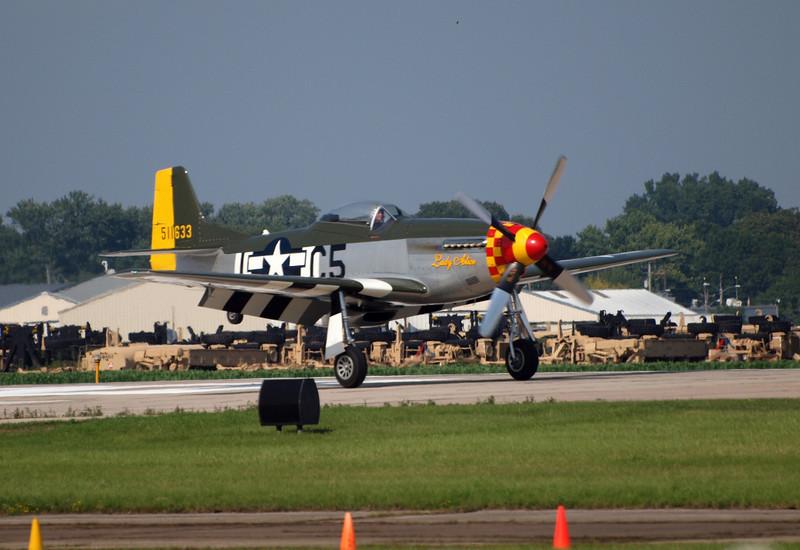 P-51D landing at AirVenture - 27 July 2010