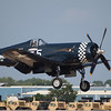 F-4U Corsair landing at AirVenture - 27 July 2010