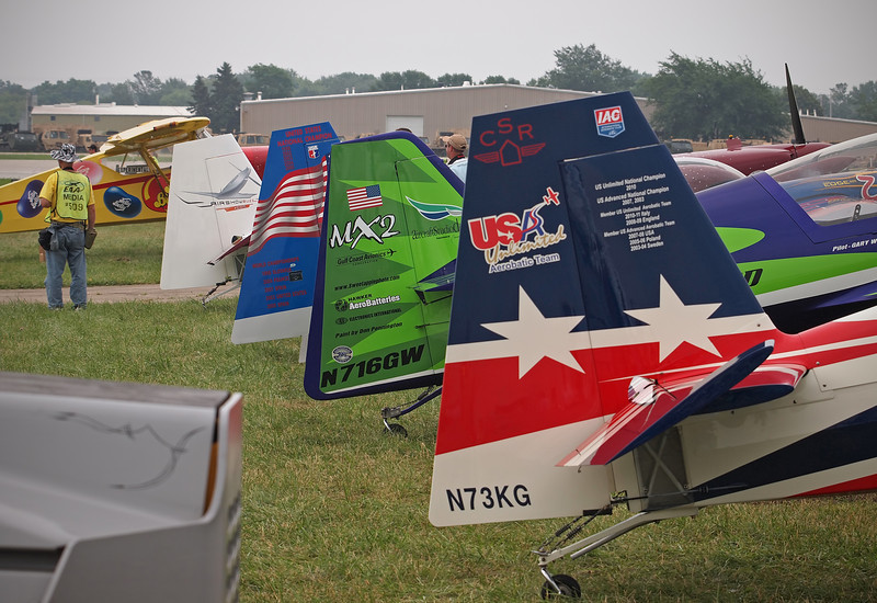 Aerobatic Tail Feathers at AirVenture - 28 July 2011