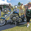 Nancy and her cruiser at Oshkosh - 29 July 2006