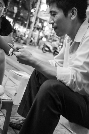 Street photography in Hanoi.