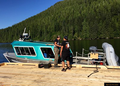 Readying the water taxi for adventure.