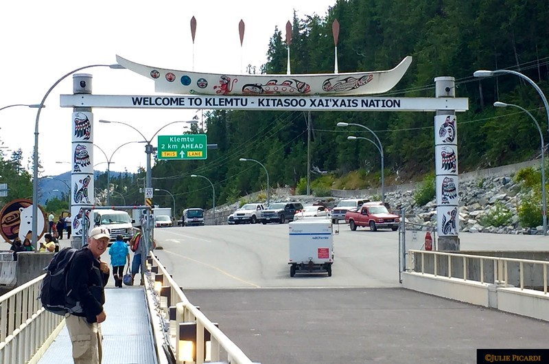 We made it!! Arriving by ferry to stay at Spirit Bear Lodge in Klemtu.