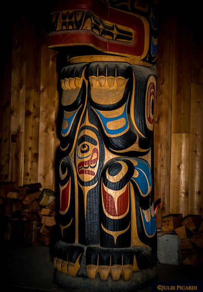 Totem Pole of the Kitasoo/Xai'Xais in the Big House