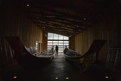 Canoes. Haida Heritage Center.